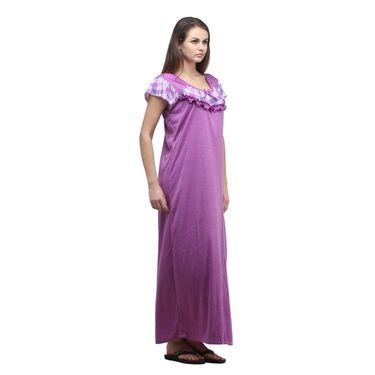 Klamotten Cotton Plain Nightwear - Purple - YY74