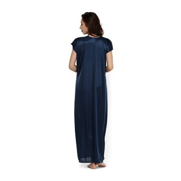 Klamotten Satin Plain Nightwear - Navy - YY89