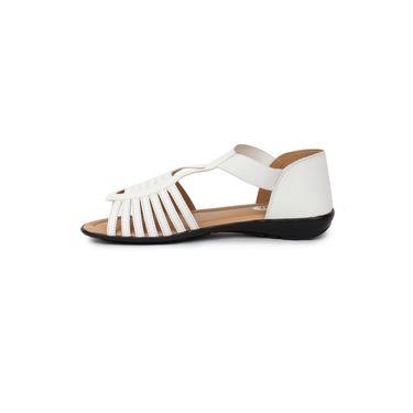 Do Bhai Faux Leather Sandals  Km-507-White