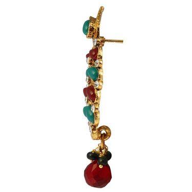 Kriaa Antique Gold Pearl Drop Earrings - Multicolour _ 1304937