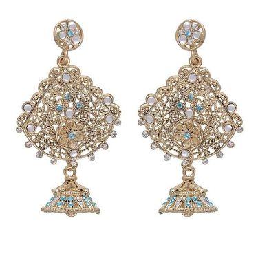 Kriaa Austrian Stone Earrings - Blue _ 1301221
