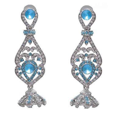 Kriaa Austrian Stone Earrings - Blue _ 1301226