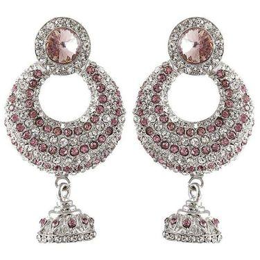 Kriaa Austrian Stone Earrings - Purple _ 1301405