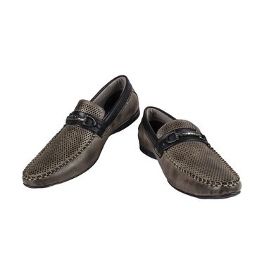 Yellow Tree Synthetic Leather Loafers Shoes Kwalk-Grey