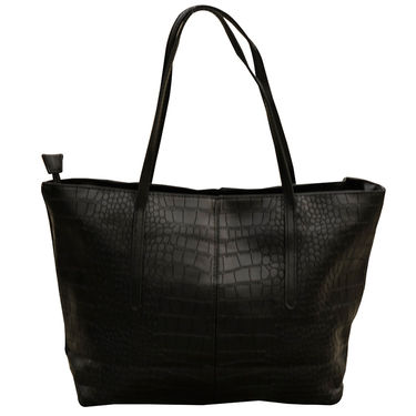 Sai Arisha PU Black Tote Handbags -LB322