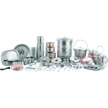 PNB 111 Pcs Chandi Look Kitchen Set