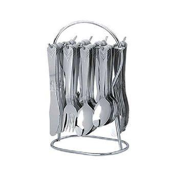 Pogo sapphire designer cutlery set - 25 pcs silver LE-POGO-001
