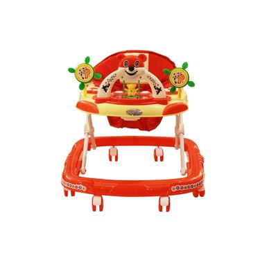 Baby Walker Musical with Tray - Red & Yellow
