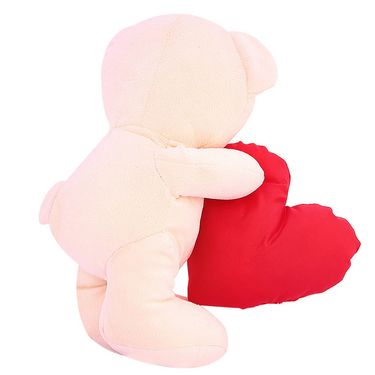 Valentine Stuff Heart Carry Teddy Bear 30 Cms - Cream