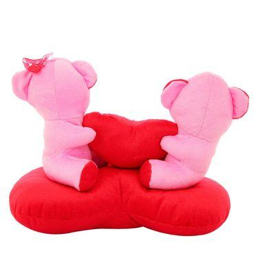 Heart Sofa Couple Valentine Stuff Teddy - Pink