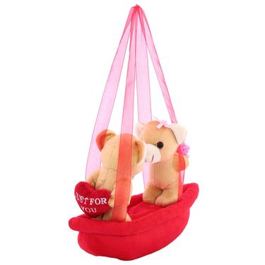 AppleCouple Boat Valentine Stuff Teddy - Brown