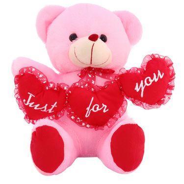 TriHeart Ruby Bear ILU Valentine Stuff Teddy - Pink