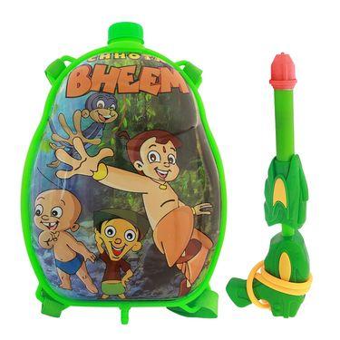 Holi Water Pichkari Back Pack Cartoon Tank Squirter F25 - Green