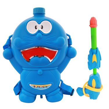 Holi Water Pichkari Back Pack Cartoon Tank Squirter F48 - Blue