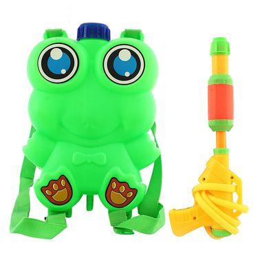Holi Green Water Pichkari Back Pack Tank Squirter Frog With Gulal Balloons