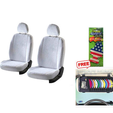 Latest Car Seat Cover for Ford Fiesta - White