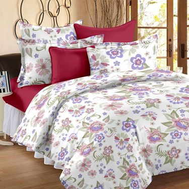 Storyathome 100% Cotton Double Bedsheet With 2 Pillow Cover-MG1461