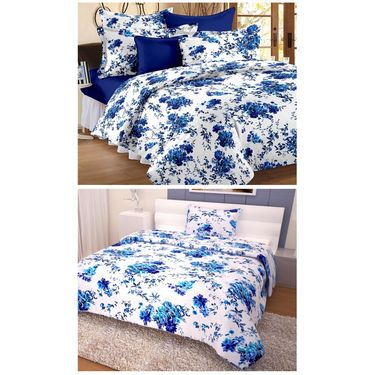 Storyathome 100% Cotton Double Bedsheet & 1 Single Bedsheet With 3 Pillow Cover -MG_1111-FY1419