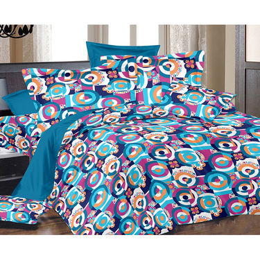 Valtellina Double Bed Sheet with 2 Pillow Cover-MO-115