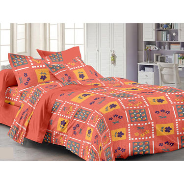 Valtellina Double Bed Sheet with 2 Pillow Cover-MO-155