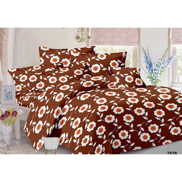 Set of 2 Double Bedsheet with 4 Pillow Covers-MO-161_175