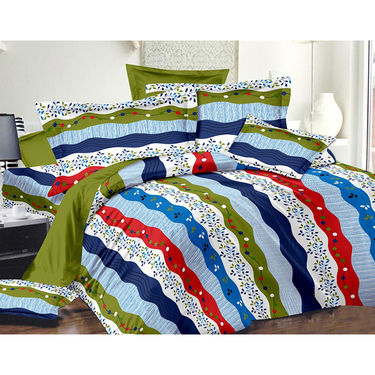 Valtellina Double Bed Sheet with 2 Pillow Cover-MO-350