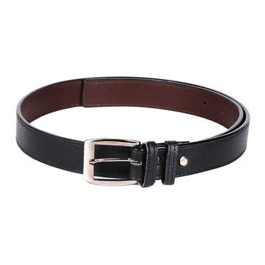 Mango People Leatherite Casual Belt For Men_Mp016blk01 - Black