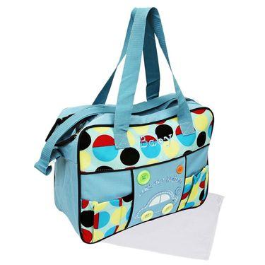 Wonderkids Sky Blue Bubble Print Baby Diaper Bag