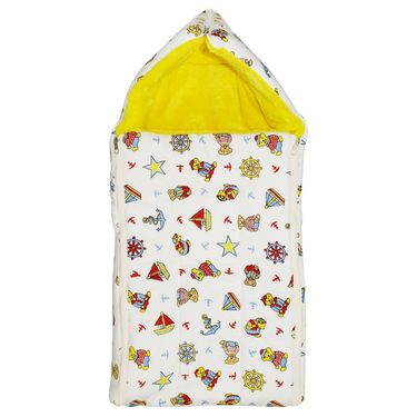 Wonderkids Yellow Boat Print Baby Carry Nest