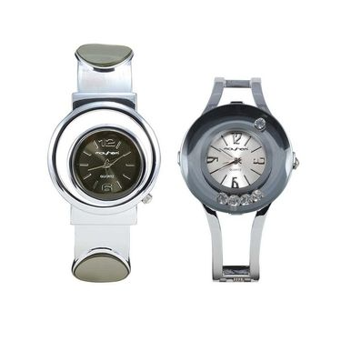 Pack of 2 Mayhem Analog Round Dial Watches_Ma2919 - Grey & Silver