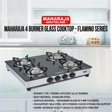 Maharaja 4 Burner Glass Cooktop - Flamino Series