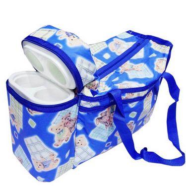 Ole Baby Premium Teddy Diaper Bag With Warmer Blue_OB-DBWW-B045