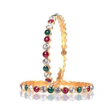 Combo Of Manukunj 2 Pendant Set + 1 Pc Of Bracelet + 2 Pc Of Bangles - kunj-113