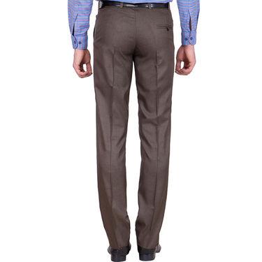 Tiger Grid Pack of 2 Cotton Formal Trouser For Men_Md023