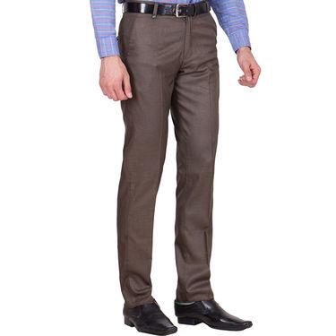 Tiger Grid Pack of 3 Cotton Formal Trouser For Men_Md045