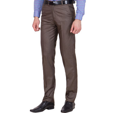 Tiger Grid Pack of 3 Cotton Formal Trouser For Men_Md054