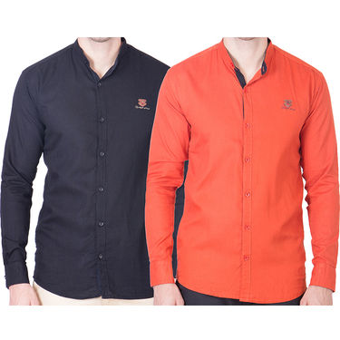 Cliths Pack of 2 Cotton Shirts For Men_Md067
