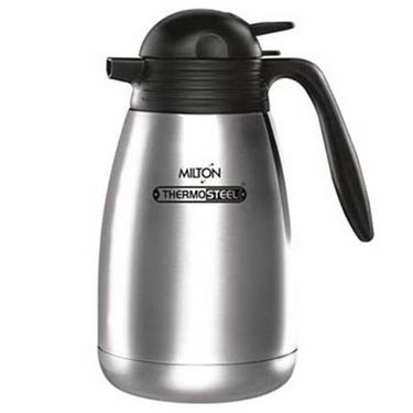 Milton Thermosteel Carafe Vacuum Insulated Flask 1 Ltr - Silver