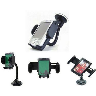 Combo of Car Interior Panda Perfume + MP3 Modulator + Mobile Mount + Gear Knob & Anti Slip Mat