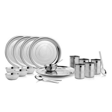 Mosaic 25 Pcs Dinning Set - Silver