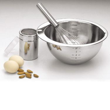Mosaic 3 Pcs Cake Prep Set - Silver