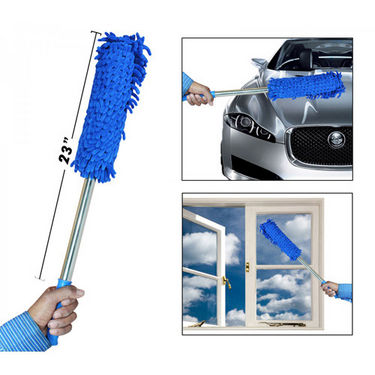 Multipurpose Microfiber Duster with Lightweight Metal Handle for Car