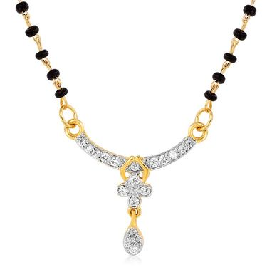 Mahi CZ Gold Plated Mangalsutra Set_Nl1101980g