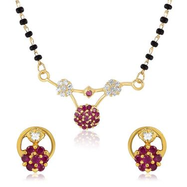 Mahi CZ Gold Plated Mangalsutra Set_Nl1103505g