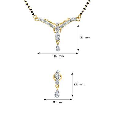 Mahi CZ Gold Plated Mangalsutra Set_Nl1106002g