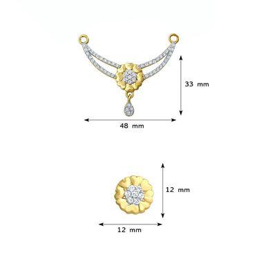 Mahi CZ Gold Plated Mangalsutra Set_Nl1106003g2