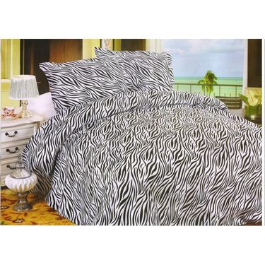 Set of 2 Multicolor Poly Cotton Double Bedsheet with 4 Pillow Covers -NLD-3-05_06