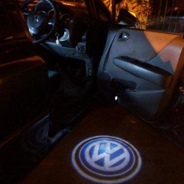 Set of 2 pcs Branded Car Door Welcome Light LED Projection Ghost Shadow Light Laser Volkswagen Logo