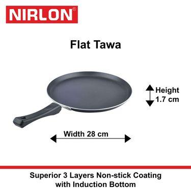 Nirlon Non-Stick Induction Flat Dosa Tawa 28 cm_NR48475