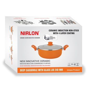 Nirlon  4 Layer Ceramic Induction Deep Casserole 26 cm_NR48827